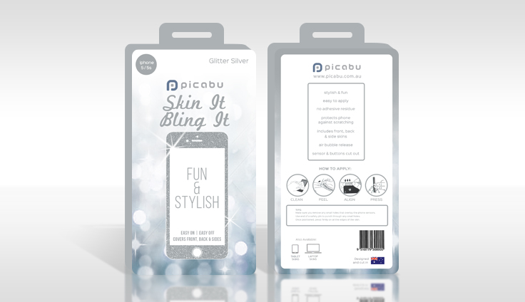 Silver packaging design for Picabu