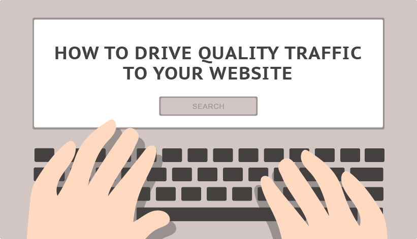 search engine field with the long tail keyword 'how to drive quality traffic to your website'