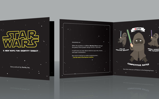 A children's book as an example of a personalised direct mail marketing piece by Sydney agency Xortie